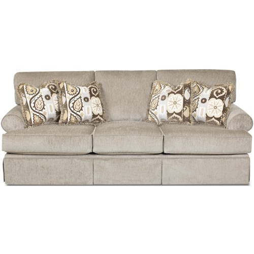 Klaussner Westerly Casual Enso Memory Foam Queen Sofa Sleeper