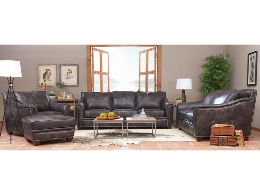 Klaussner WilkesboroLeather Sofa