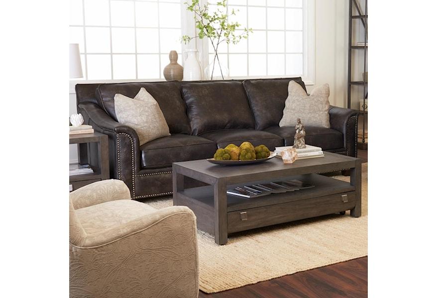 Leather Sofa With Nailhead Studs
