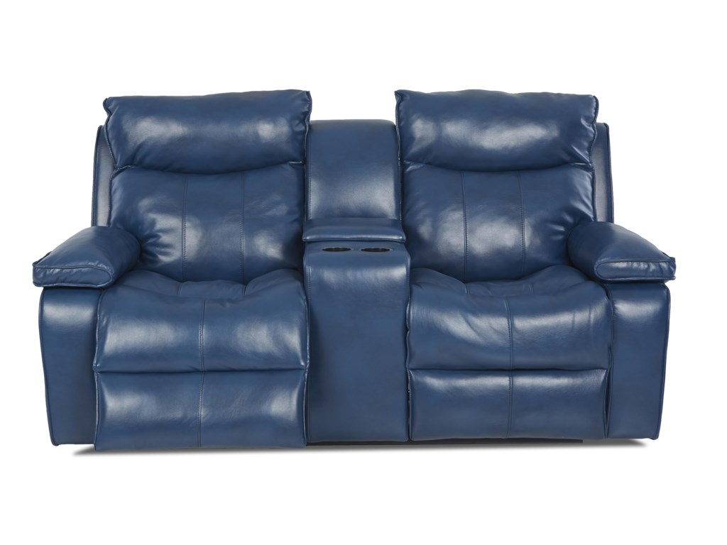 Klaussner WilsonContemporary Console Reclining Loveseat