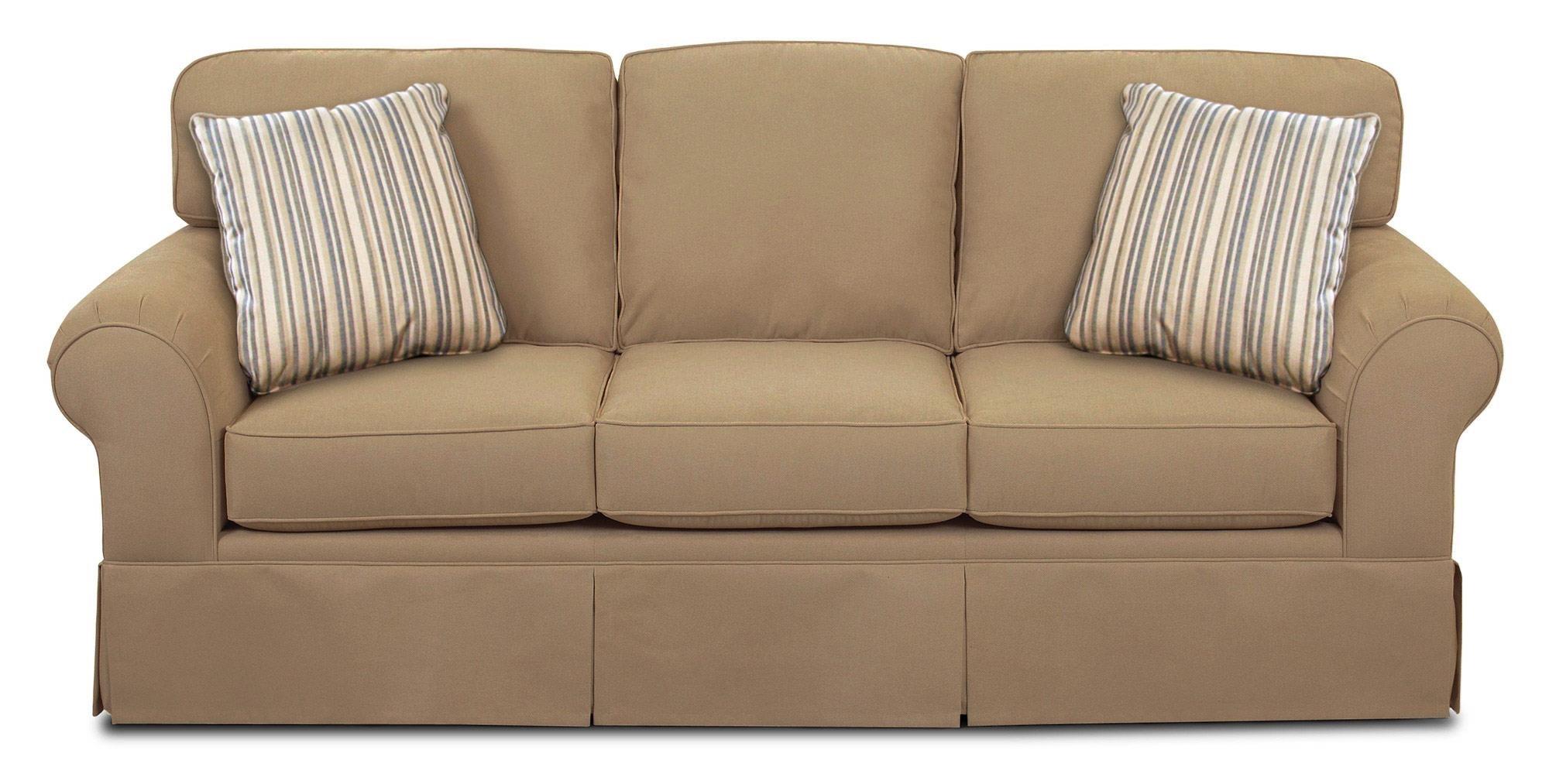 simple elegance asana casual skirted sofa w sunbrella fabric - Sunbrella Fabric