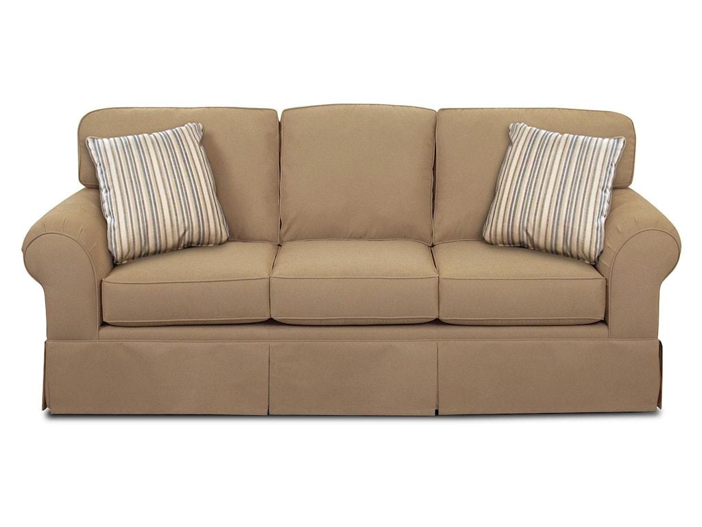 Asana Casual Skirted Sofa W Sunbrella Fabric