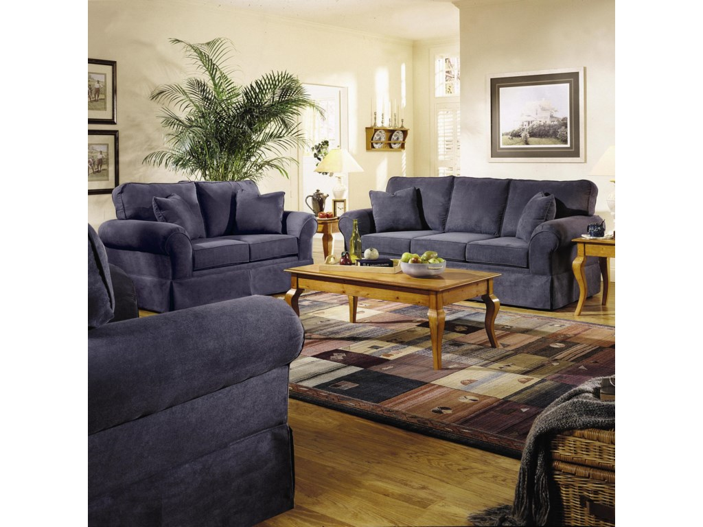 Shown in Room Setting with Loveseat and Chair