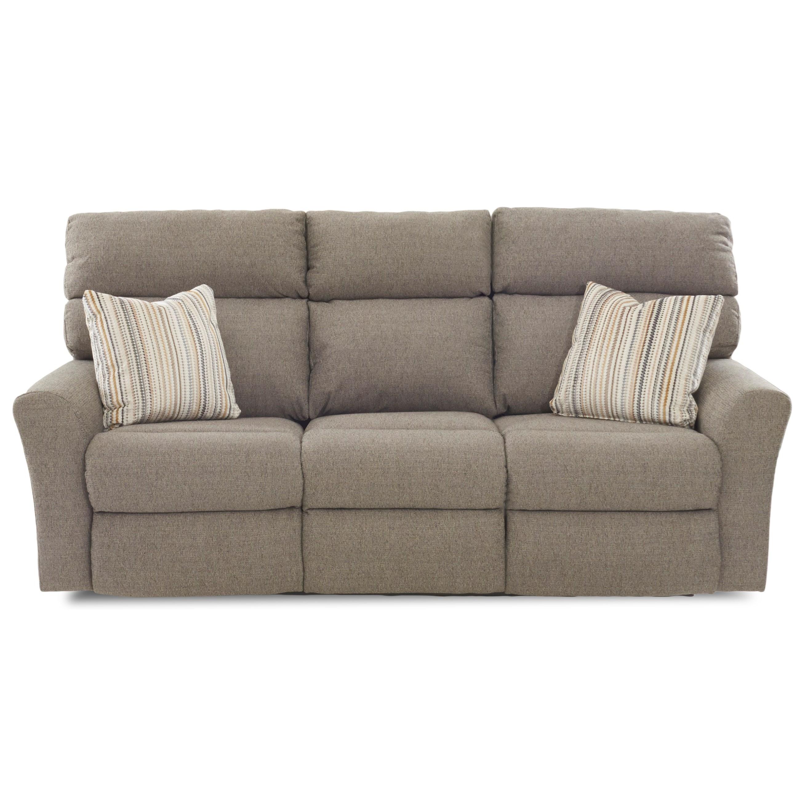 Klaussner XavierPower Reclining Sofa (3 Mech) W/ Pillows ...