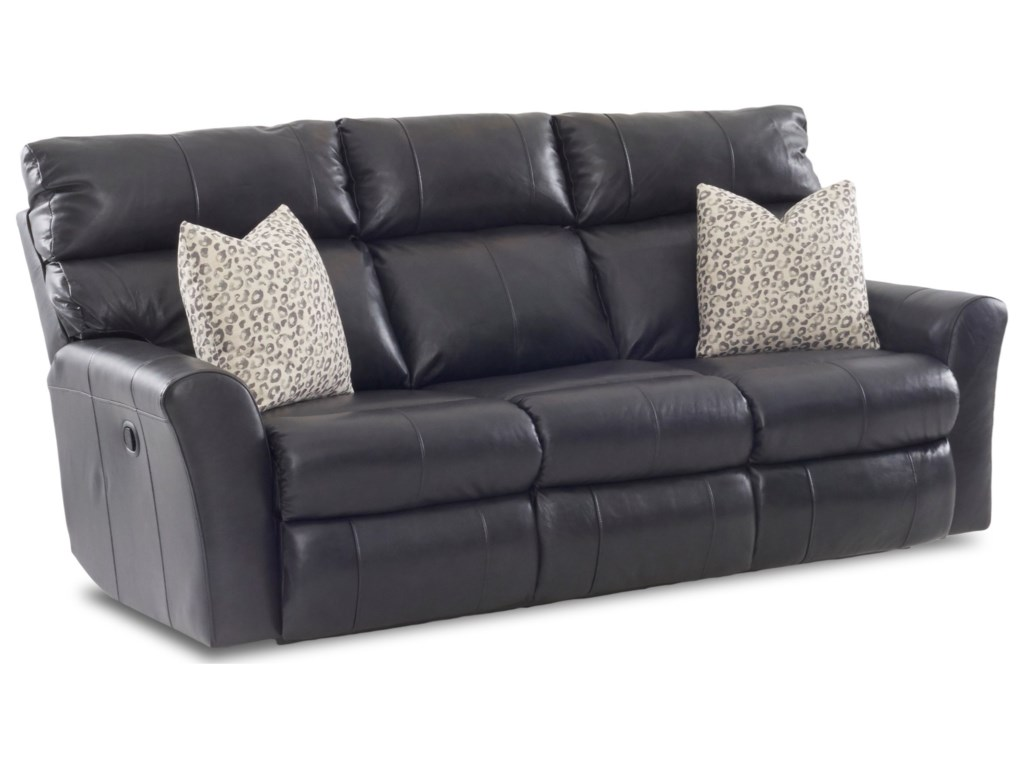 Klaussner XavierPower Reclining Sofa (3 Mech) w/ Pillows