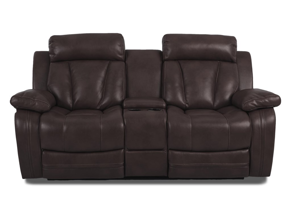 Klaussner International  Atticus-USConsole Reclining Loveseat