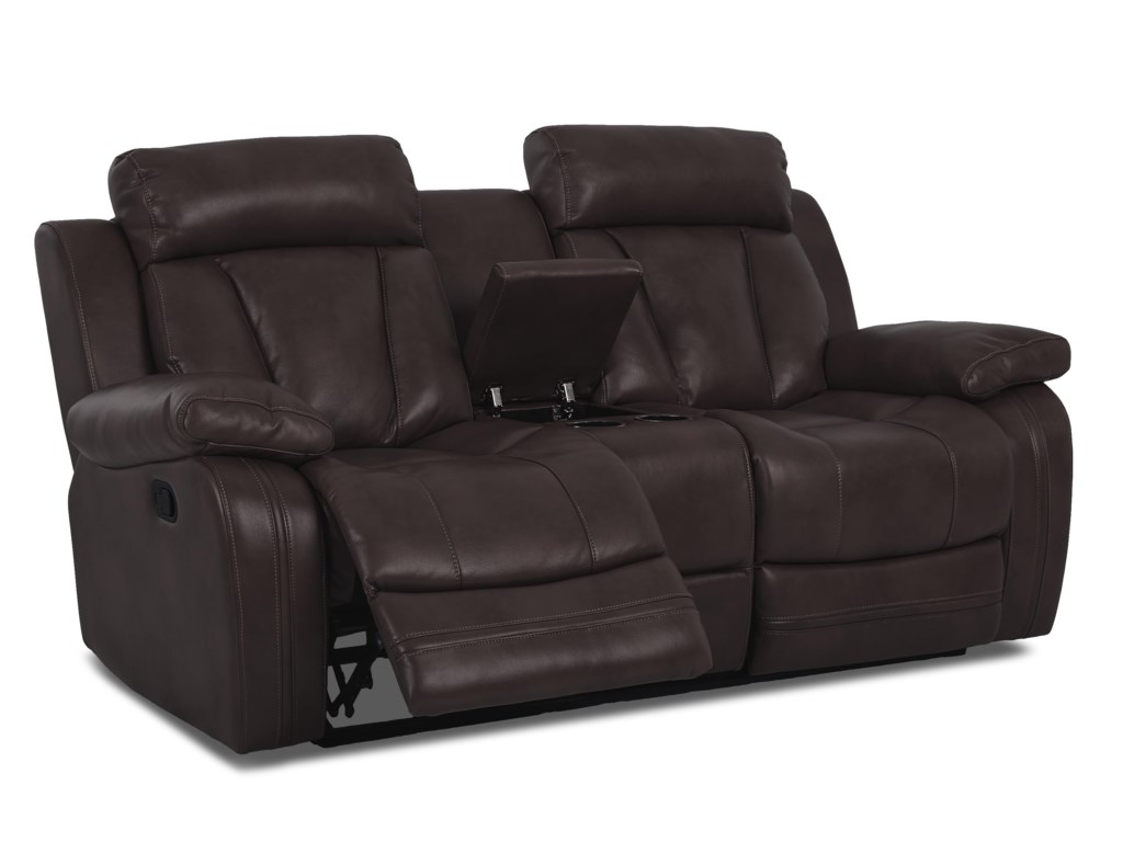 Klaussner International  Atticus-USPower Console Reclining Loveseat