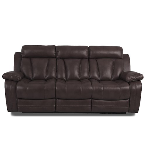 Klaussner International  Atticus-US Casual Power Reclining Sofa With Table