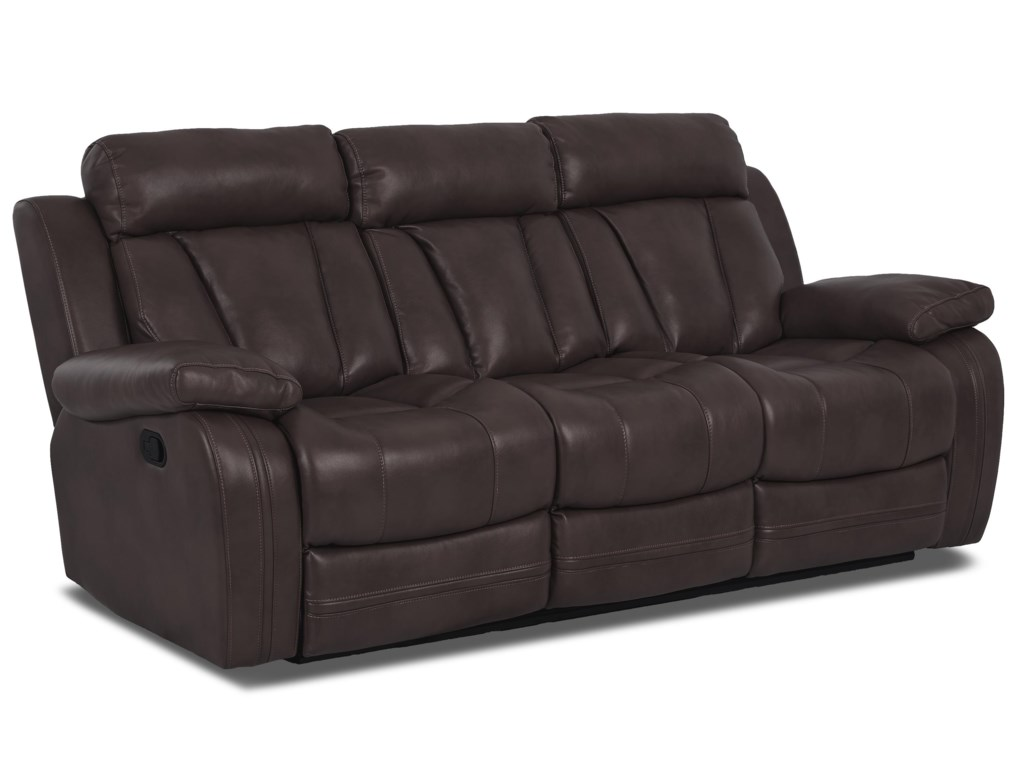 Klaussner International  Atticus-USPower Reclining Sofa With Table