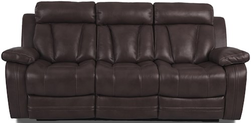 Klaussner International  Atticus-US Casual Reclining Sofa with Drop Down Table