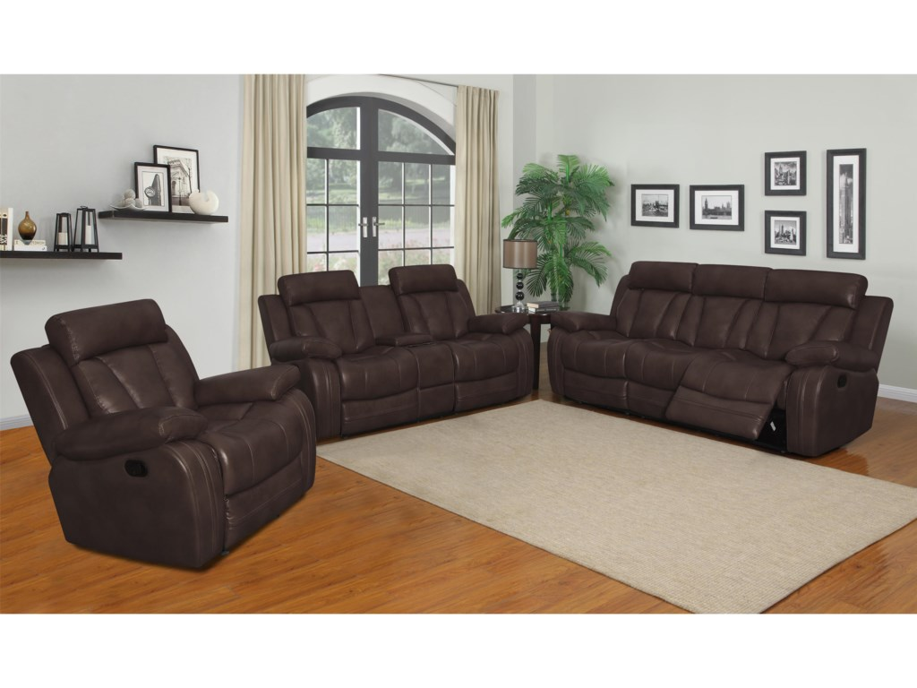 Klaussner International  Atticus-USReclining Sofa W/ Table