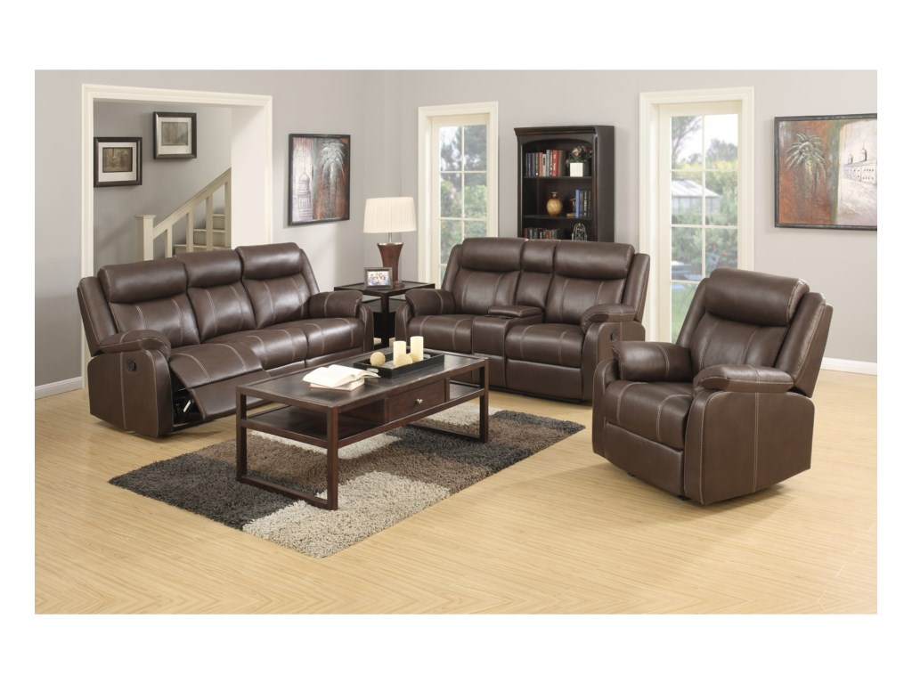 Klaussner International  Domino-USReclining Living Room Group