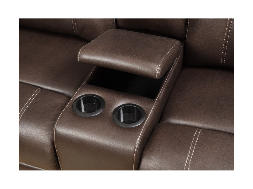 Klaussner International  Domino-USConsole Reclining Loveseat