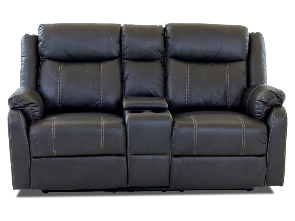 Klaussner International ValorConsole Reclining Loveseat