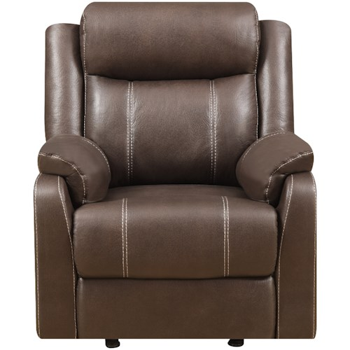Klaussner International  Domino-US Casual Gliding Recliner Chair