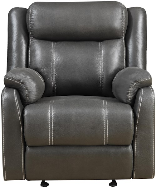 Klaussner International Domino Casual Gliding Recliner Chair