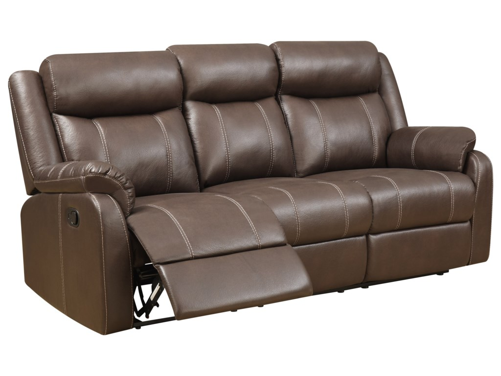 Klaussner International  Domino-USReclining Sofa W/table