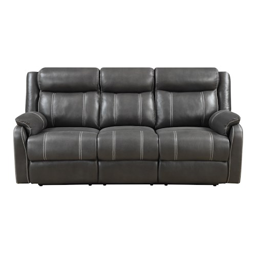 Klaussner International Valor Casual Reclining Sofa with Drop Down Table