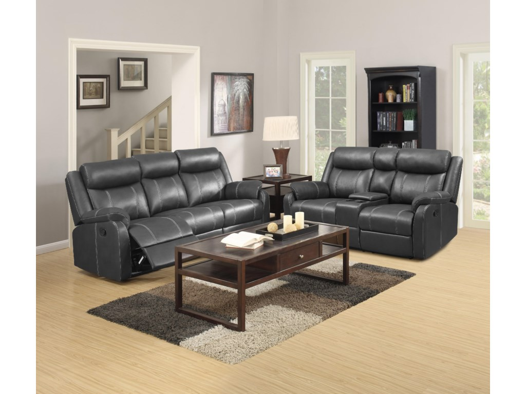 Metropia International  Domino-USReclining Sofa W/table