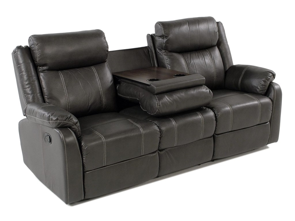 Klaussner International ValorReclining Sofa W/table