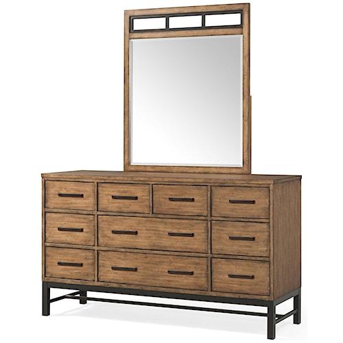 Belfort Basics Affinity 10 Drawer Dresser and Mirror Set