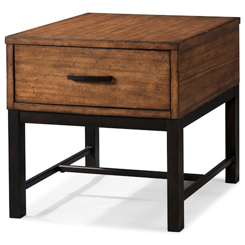 Klaussner International Affinity Rustic Industrial End Table