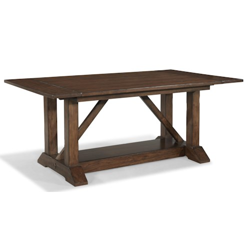Easton Collection Blue Ridge Trestle Table with 2 Leaves