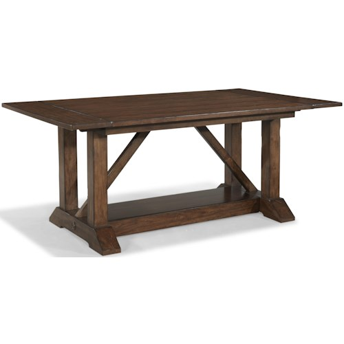 Carolina Preserves by Klaussner Blue Ridge Trestle Table with 2 Leaves
