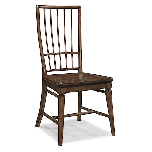 Easton Collection Blue Ridge Cherry Rake Back Side Chair