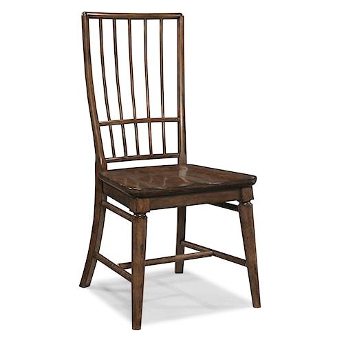 Carolina Preserves by Klaussner Blue Ridge Cherry Rake Back Side Chair