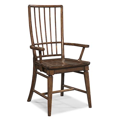 Easton Collection Blue Ridge Cherry Rake Back Arm Chair