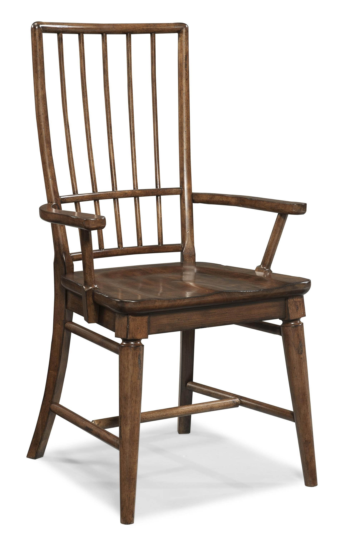 Carolina Preserves By Klaussner Blue RidgeCherry Rake Back Arm Chair ...