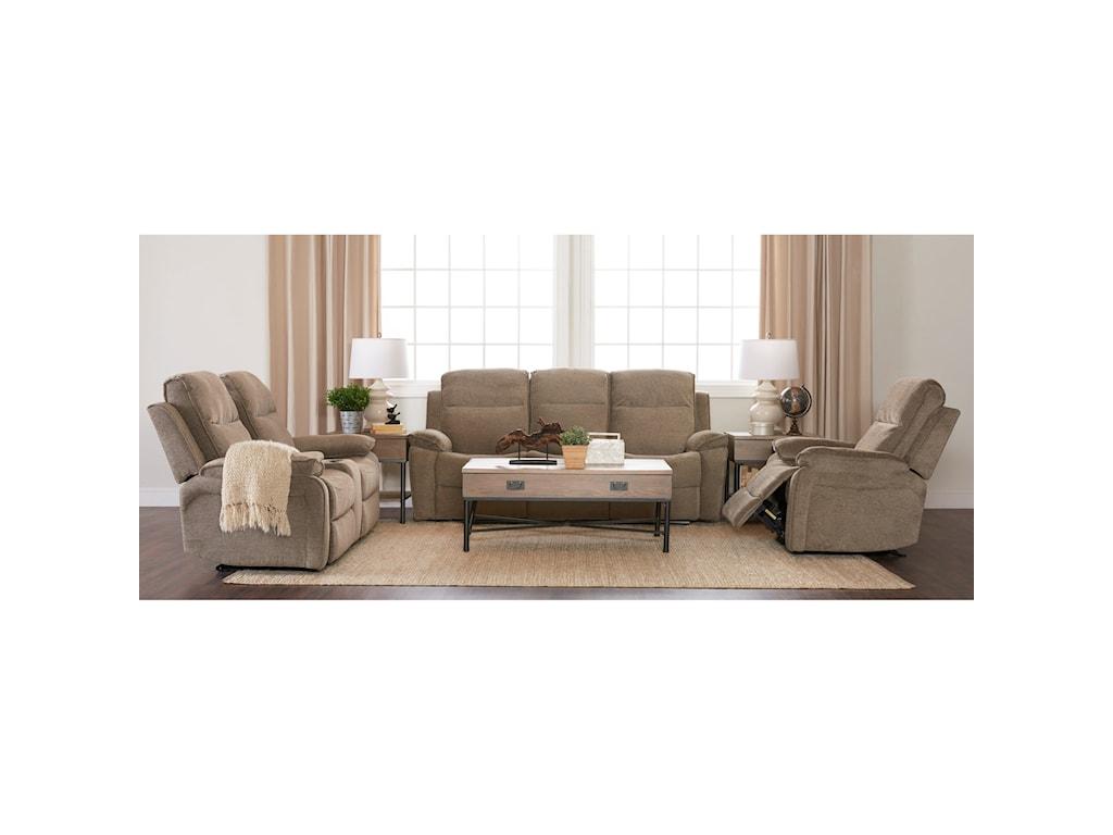 Klaussner International CastawayPower Reclining Sofa with Power Headrests