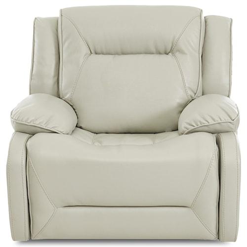 Klaussner International Dansby Power Reclining Chair with Power Tilt Headrest and USB Port