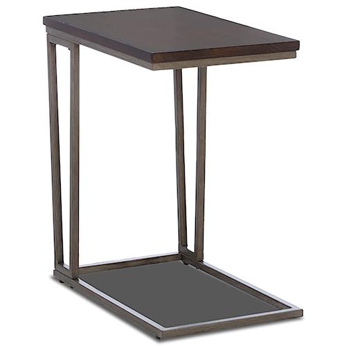 Klaussner International Dawson Modern Wood Top Laptop Table