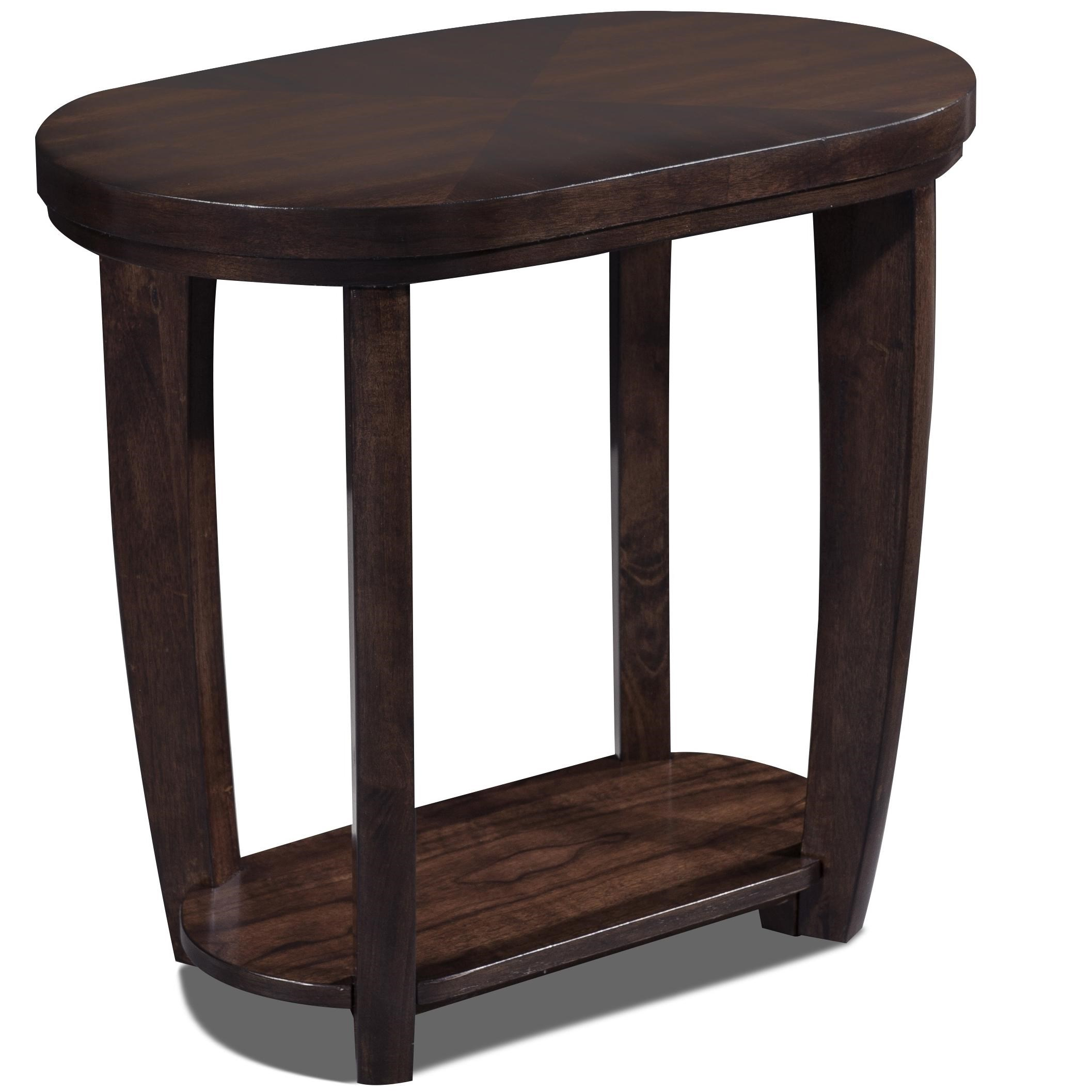 Klaussner International Hayden Oval Chairside Table With 1