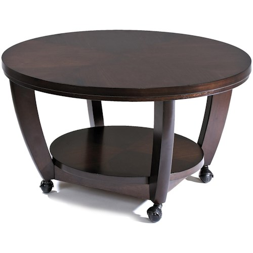 Klaussner International Hayden  Round Cocktail Table with Casters