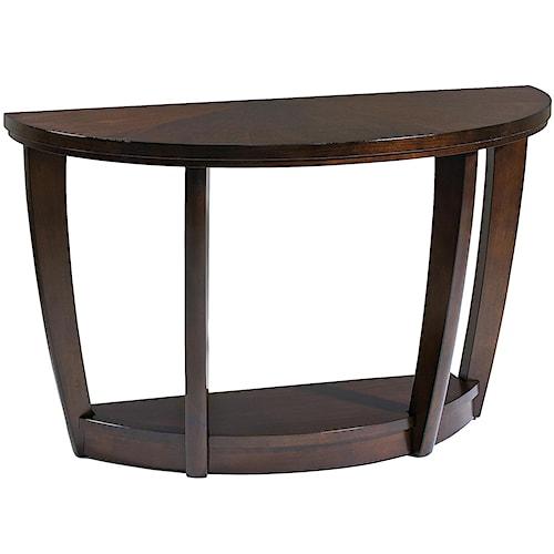 Klaussner International Hayden  Demilune Sofa Table With 1 Shelf