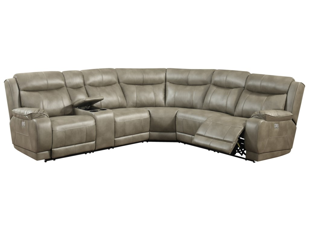 Klaussner International HumphreyPower Reclining Sectional