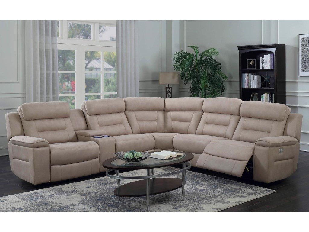 Klaussner International Gemini5PC Power Reclining Sectional