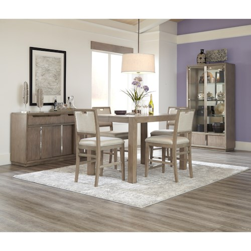 Klaussner International Melbourne Casual Counter Height Dining Room Set