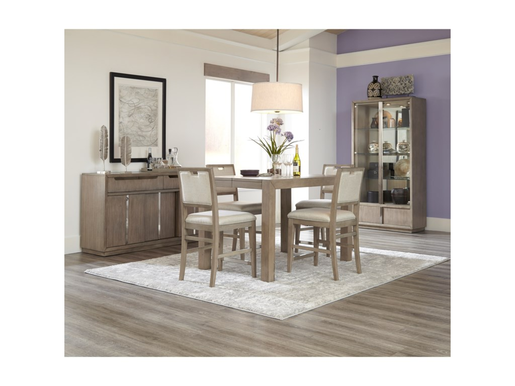 Klaussner International MelbourneCounter Height Table and Four Stools Set
