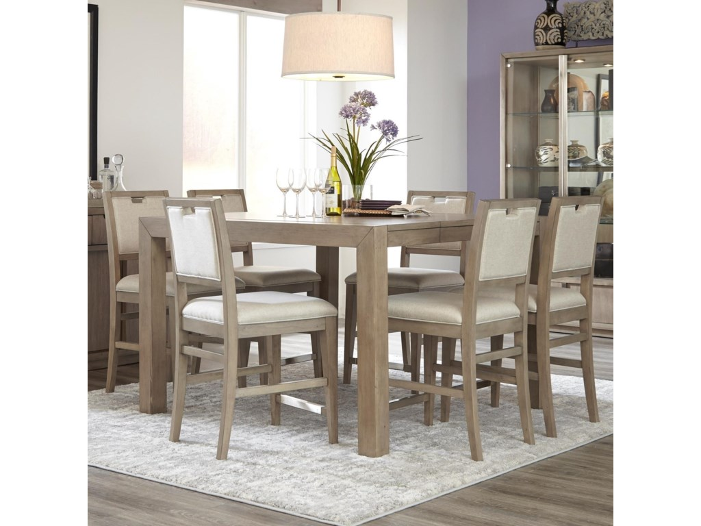 Klaussner International Melbourne7 Pc Casual Dining Set