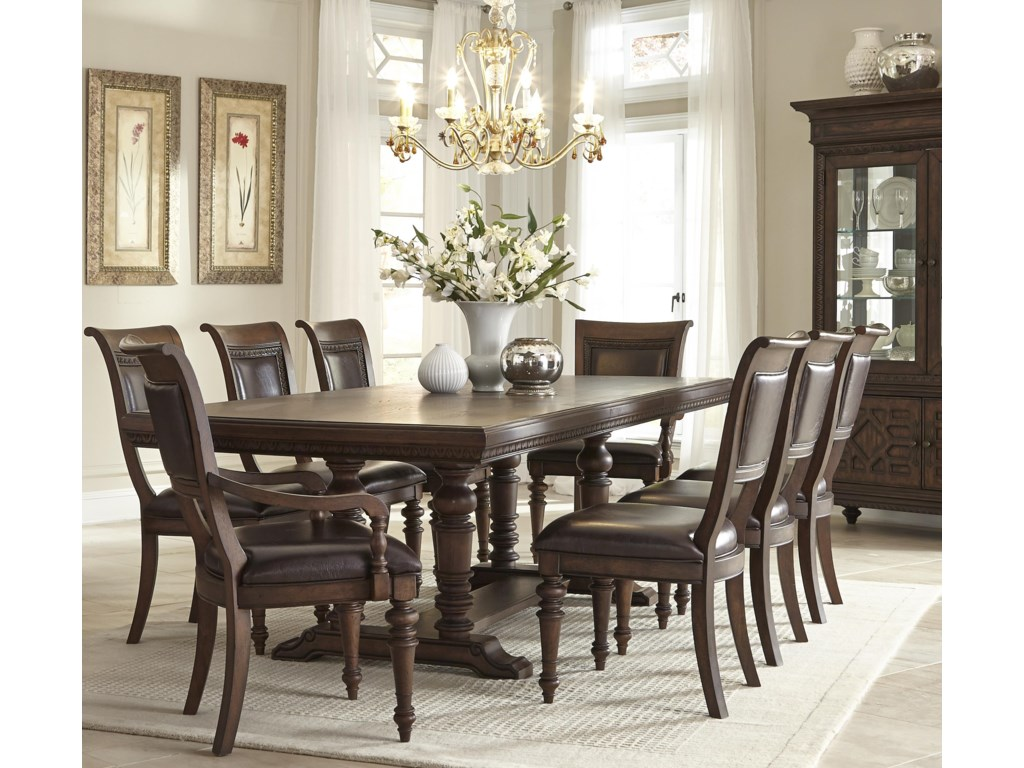 Klaussner International Palencia9 Piece Table and Chair Set