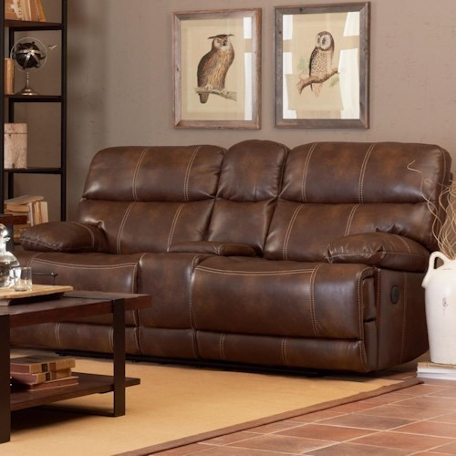 B751 Transitional Reclining Sectional With Storage Console: Klaussner International Rizzo Casual Reclining Loveseat