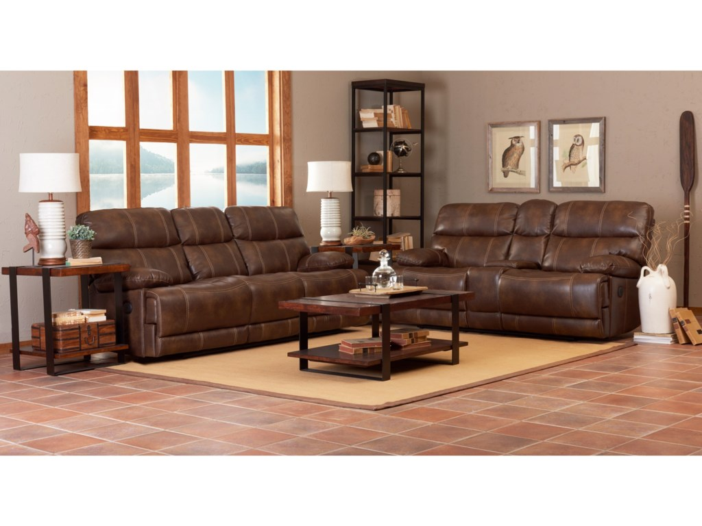 Klaussner International RizzoPower Console Reclining Loveseat