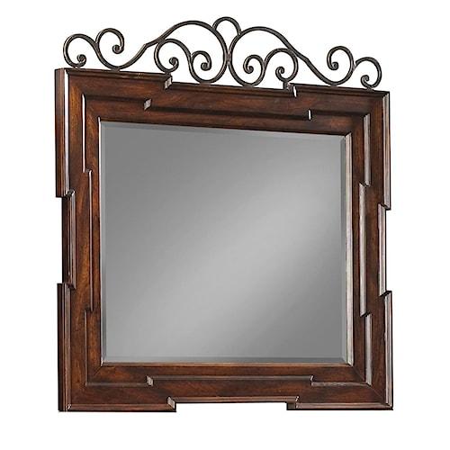 Belfort Basics Chesterbrook Dresser Mirror with Scroll Work Details