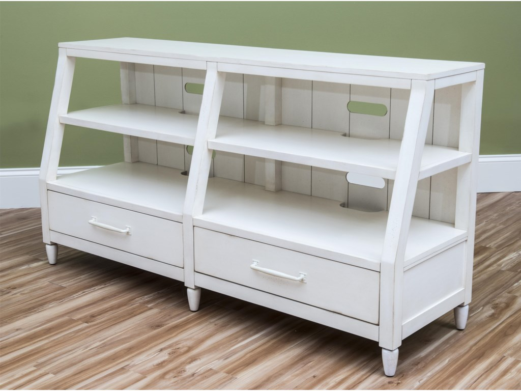 Carolina Preserves by Klaussner Sea BreezeSplish Splash-White Entertainment Console