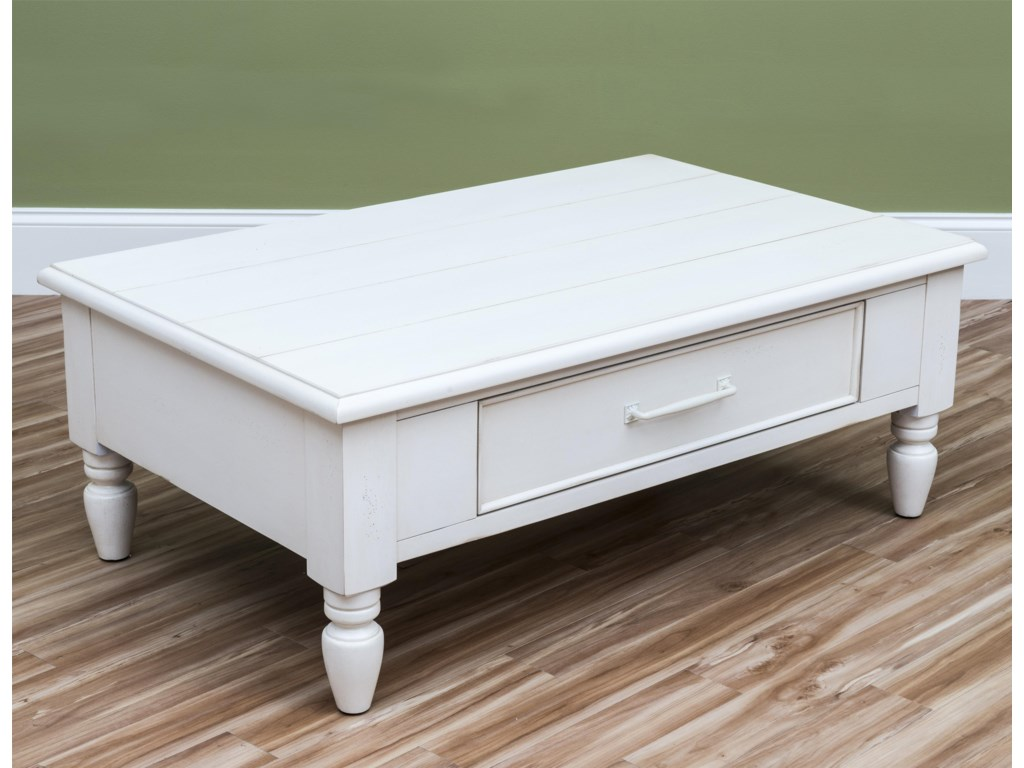 Carolina Preserves by Klaussner Sea BreezeBeachcomber-White Cocktail Table