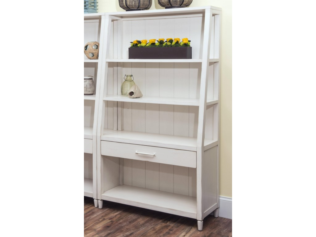 Carolina Preserves Sea BreezeSplish Splash-White Bookcase